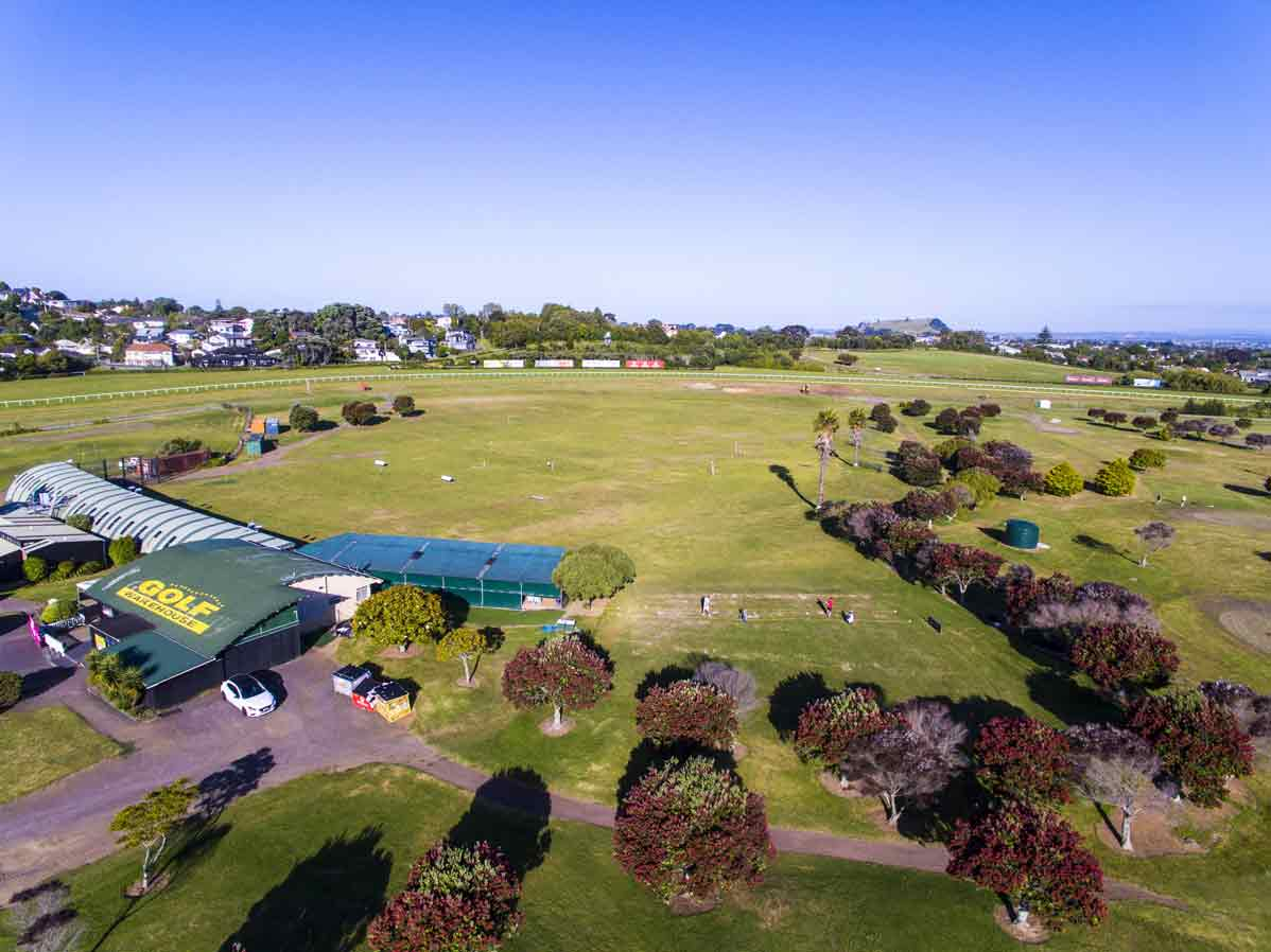 Golf Warehouse Driving Range Ellerslie Aerial Photo